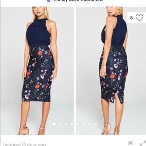 NWT Ted Baker Shimma Halter Neck Pleated Dress  5